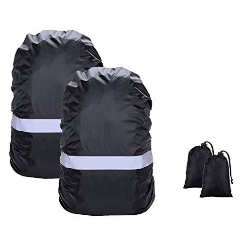 Hossom 2PCS Cubierta Impermeable de Mochila, Fundas Mochila Impermeable Nylon Mochila Protector De Lluvia Impermeable para Escalada Senderismo Camping, Viajar, Actividades al Aire Libre