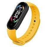 Smart Watch M6 Braccialetto di fitness Braccialetto Assistenza Assistenza Assistenza cardiaca Pressione sanguigna IP67 Impermeabile Activity Tracker Guarda Giallo, orologio intelligente