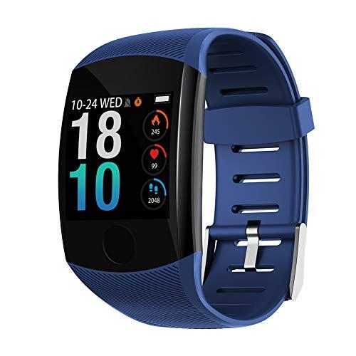 Sport Wasserdichtes Armband, HD Farbbildschirm Aktivitätsmonitor Watch für Schritte/Entfernungen/Kalorien- und Herzfrequenz/Blutdruck/Schlafen mit APP Steuerung zur Informationserinnerung(Blau)