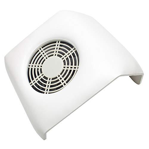 Aspirateur Manucure Séparateur à ongles en cuir, petit ventilateur en cuir, séchoir à manucure, aspirateur quatre couleurs en option avec sac à poussière 110v / 240v,White