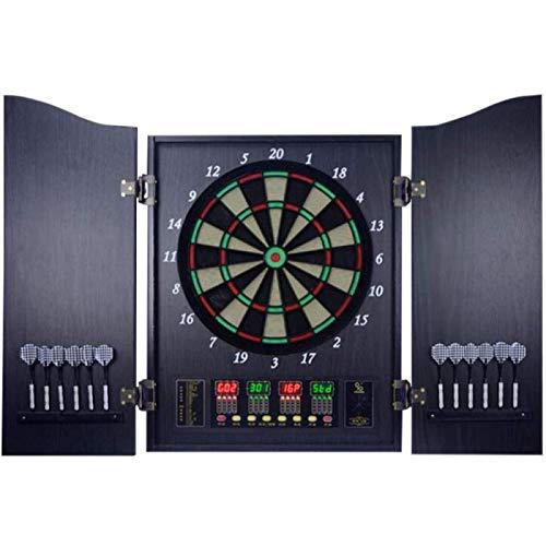 XHLLX Dartboard Electrónico con Puerta, Tabla De Dardos con 4 Juegos Led 27 Juegos Y 243 Variaciones Puntuación Automática Deporte De Ocio para Office Home
