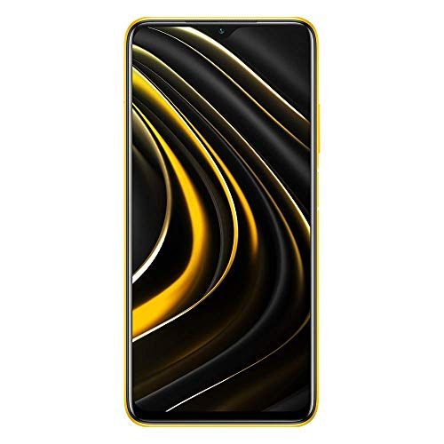 "Xiaomi Poco M3 - Smartphone 4+64GB, Pantalla 6,53"" FHD+ con Dot Drop, Snapdragon 662, Cámara Triple de 48 MP con IA, batería de 6000 mAh Poco Amarillo Yellow"