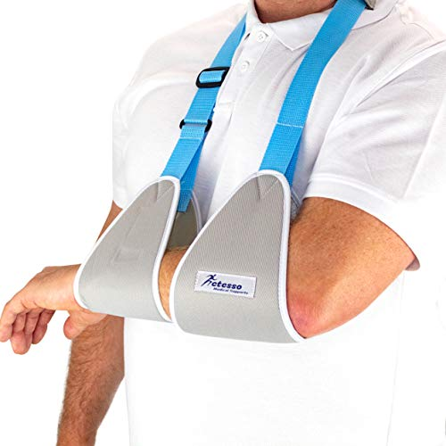 Actesso Web Medical Arm Sling - Designed to immobilise and stabilise the arm, wrist, and shoulder following injuries or for a broken arm and cast support. Sizes for Adults & Kids (Medium)