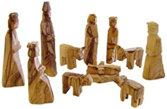 Holy Land Market Olive Wood Children's Nativity Set (12 Pieces Set) (3 Inches)