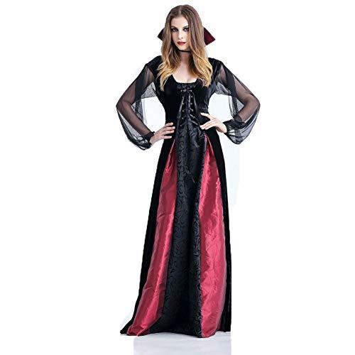 Chunse Vampiro Halloween nia de Vestir, condesa Drcula Traje de Las Mujeres del Vestido de Vampiro,M