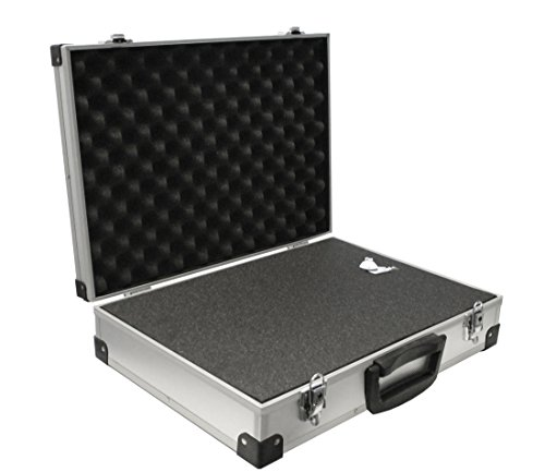 PeakTech 7270 – Flight Case with padded foam, Lockable Storage Toolbox, Portable Aluminium Box with protective cubed Foam, Universal Aluminium case, Protective – Extra extra Large (500x350x120 mm)