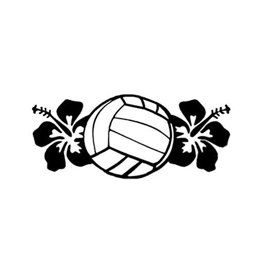 ZEEKYLY 15.7 * 6.7CM Interessante Volleyball Dekor Grafik Vinyl Auto Aufkleber Zubehör Körper Aufkleber -schwarz