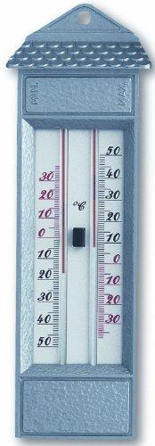 Maxima-Minima-Thermometer aus Druckguß, silber TFA 10.2006