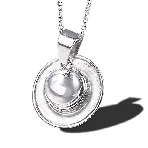 Y-longhair Accesorios personalizados, collares, pendientes en forma de sombrero de la manera Collar de plata del acero inoxidable minimalistas Sombreros colgantes for las mujeres Collares joyería, , P
