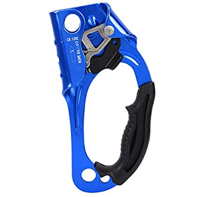 Rehomy Climbing Ascender, Mountaineering Right Hand Ascender Descender Grasp Clamp for 8-13mm Rope