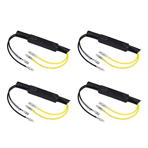 Yizhet 4 piezas Resistencias de Carga de Motocicleta LED 12V Flasher Universal Resistencias de Indicador Adaptador Led Resistor (27W)