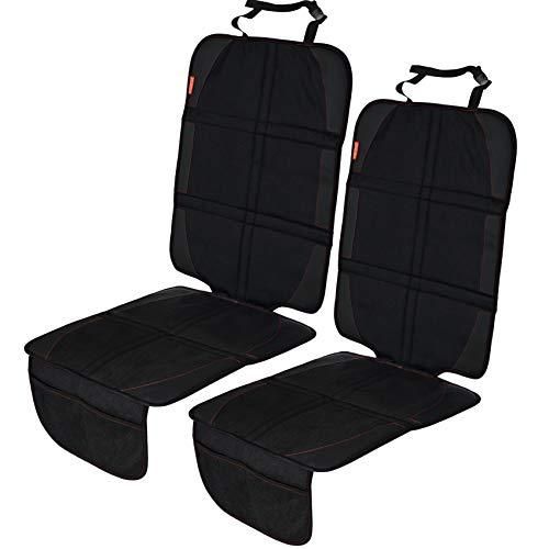 LCP Kids 2er Set XL Autositzschoner 130 x 49 cm – Robuster Kindersitzunterlage – Autositzauflage Isofix geeignet – Schwarz
