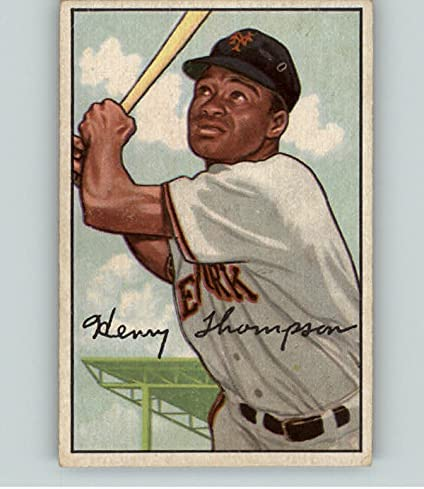 1952 Bowman #249 Hank New Shipping Free Thompson High order Giants Young Kit EX-MT Car 406660