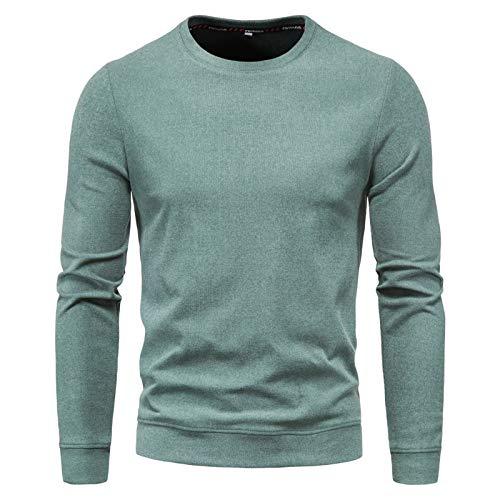 WLZQ Suéter De Punto para Hombre Suéter De Color Sólido para Hombre Color Caramelo para Hombre Cuello Redondo Suéter De Color Sólido Chaqueta Informal De Moda