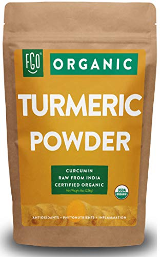 Organic Turmeric Root Powder w/ Curcumin | Lab Tested for Purity | 100% Raw from India | 8oz/226g...