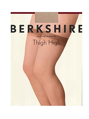 Berkshire Women's Plus-Size All Day Sheer Thigh High - Queen Sizes 1590, Nude, Queen 2