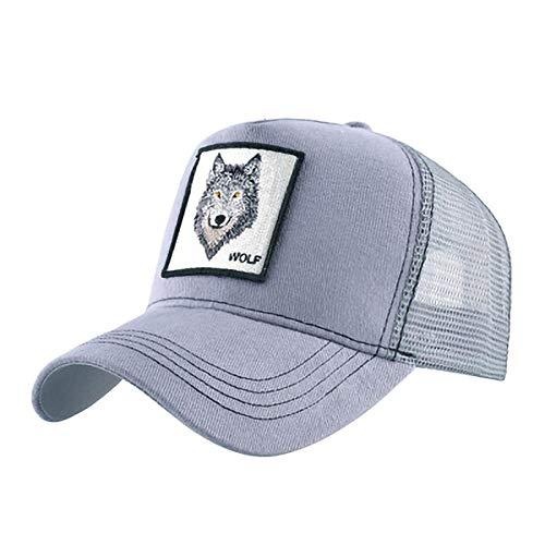 YDXC Hombres y Mujeres Bordado Malla Gorra de béisbol Unisex Sombrero de Sol Hip-Hop Trucker Deportes al Aire Libre Transpirable Ajustable-Grey_Adjustable