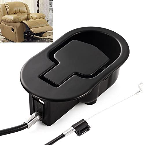Best FOLAI Recliner Replacement Parts - Universal Black Metal Pull Recliner Handle with Cable - fits Ashl