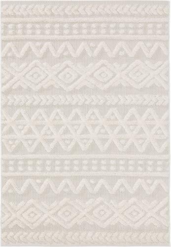 benuta PLUS In- & Outdoor-Teppich Carlo Cream 80x150 cm - Outdoor-Teppich für Balkon & Garten