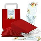 Logbuch-Verlag - 10 piccole confezioni natalizie per partner aziendali, per confezionare regali di Natale, colore: blu/rosso