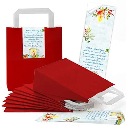 Logbuch-Verlag 10 kleine Weihnachtsverpackung für Firmen Geschäftspartner Geschäftsfreunde zur Verpackung von Weihnachtsgeschenken blau rot