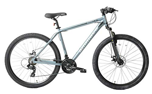 Ammaco Osprey V1 27.5' Wheel Front Suspension Mountain Bike 21 Speed Mechanical Disc Brakes 23' Frame Slate Blue