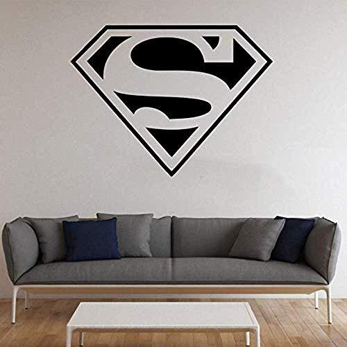 yrxxh Living Room Decoration Superman Logo Removable Interior Wall Sticker Decorative Vinyls Avengers Home Theme Wall Sticker 57X57Cm