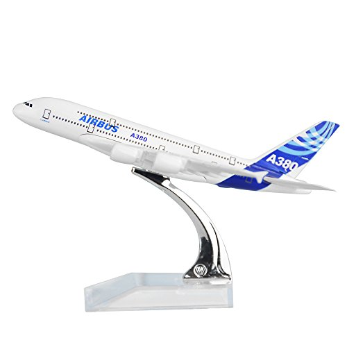 24-Hours Airbus A380 Alloy Metal Model Decorations Plane Model Die-cast 1:400