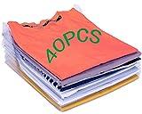 Nifogo Organizador de Camisetas,Camiseta Carpeta - Antihumedad y Antiarrugas,Tamaño Normal(40-Pack)