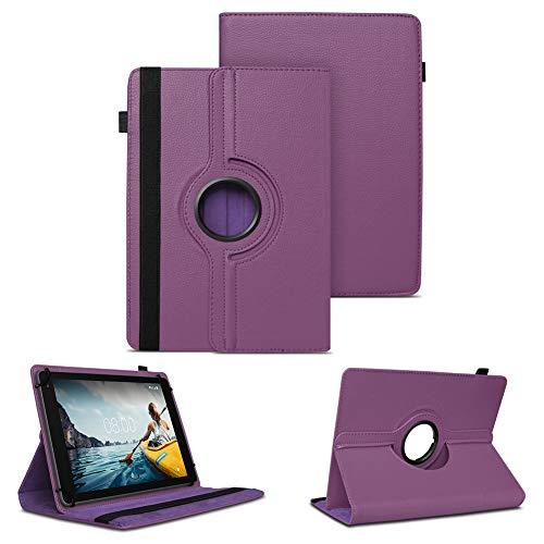 NAUC Tablet Hülle kompatibel für Medion Lifetab E10802 Tasche Schutzhülle Schutztasche Cover Schutz Hülle 360 Drehbar, Farben:Lila