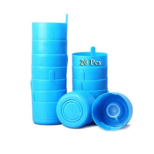 Paquete de 20 tapones antiderrames, reutilizables tapa de jarra de agua de 3 y 5 galones Tapas de botella tapas antisalpicaduras antisalpicaduras Broches de repuesto para botella de agua