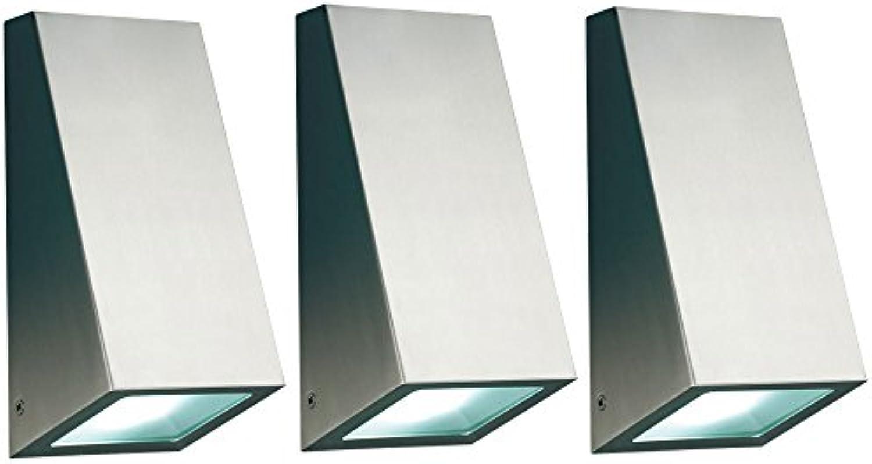 3er Set Auen Lichter Wand Leuchten Fassaden Strahler Geh Weg Beleuchtungen Garten Lampen