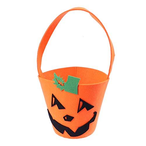 BESTOYARD Kürbis Süßigkeits Taschen aus Vliesstoff für Kinder Halloween Kostüm Party