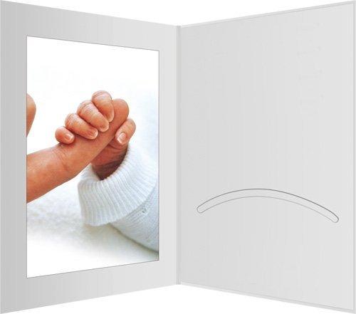 10 Stk. Portraitmappen m. Passepartout 13x18 weiß matt - Daiber