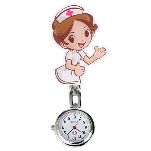 Moda Bella Cartoon clip Pocket Watch Pendant for Nurse Dottore Clock Clock Gifts Orologio con spilla (Color : Model 2)