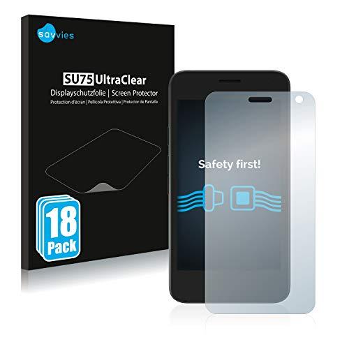 Savvies 18x Schutzfolie kompatibel mit Archos Access 45 Bildschirmschutz-Folie Ultra-transparent