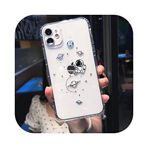 Funda de teléfono para iPhone 11 Pro MAX XS XR X 12 Mini 7 8 Plus transparente suave TPU a prueba de golpes, para iPhone 12 mini