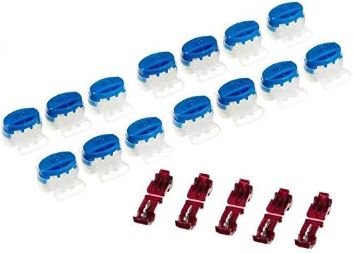 Genisys 15 Kabel Verbinder + 5 Anschlussklemmen kompatibel für Husqvarna Automower ® (Original v. 3M)