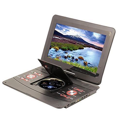 Draagbare DVD-speler met hoge resolutie, batterij, direct play in formaten AVI/RMVB/MP3/JPEG, ondersteuning van USB en SD-kaart.