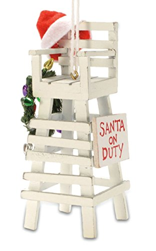 Cape Shore Tropical Beach Lifeguard Santa Claus Christmas Tree Holiday Ornament Decoration
