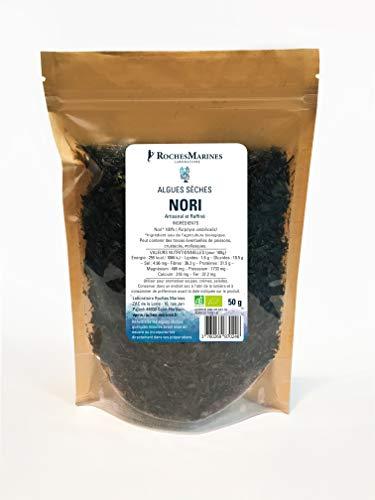 Algue Nori Bio en paillette - 50 g - Fabriqué en France - Pour salades et poissons (1)
