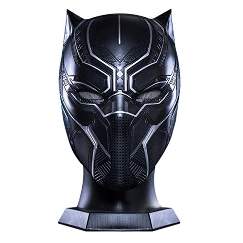 nihiug Black Panther Helmet Wearable Captain America 3 Avengers Cosplay máscara,Black-OneSize