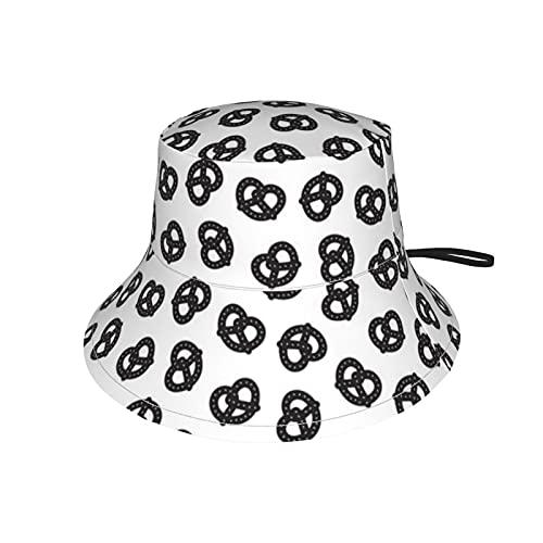 Kteubro Postmodern Pretzels - Gorra de pesca para niños, color negro