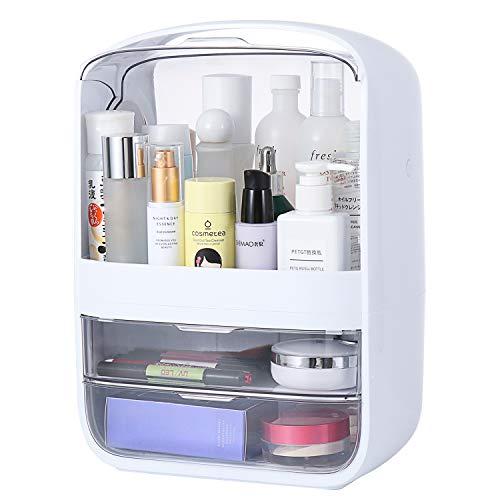 Portable Multifunctional Fully Open Makeup Organizer, Drawer Makeup Storage Box Desktop Sundry Storage Case,Waterproof&Dustproof Cosmetic Box
