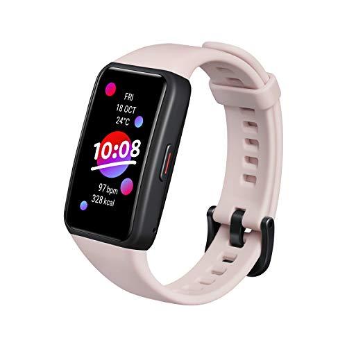 HONOR Band 6 Smartwatch Orologio Fitness Uomo Donna Activity Tracker Frequenza Cardiaca SpO2 e Sonno Smart Watch con 10 Modalità Sportiva 1.47   AMOLED 5ATM Compatibile con Android, Rosa