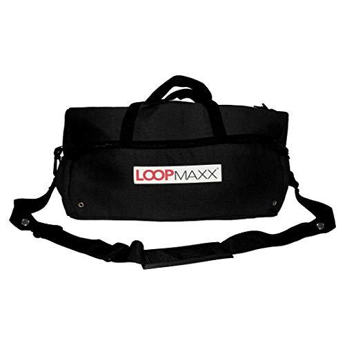 LOOPMAXX Basic Bag 2.0 | Sport- & Fitnesstasche | Perfekter Sportbegleiter | Mit Tragegurt (schwarz)