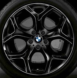Cerchio in lega per ruote anteriori, per BMW X5 (E70) LCI, diametro 20'', modello 214 con razze a Y, colore nero