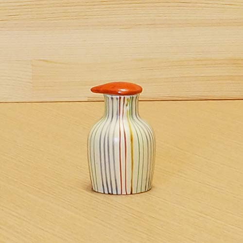 Great Price! Imari Japanese Arita-yaki Soy Sauce Bottle (Colorful Stripe) from Japan 02112046