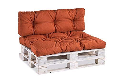 Coussins pour Palettes PPI (Siège 120x60, Orange)