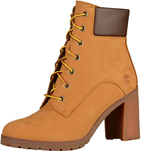 Timberland Allington 6 inch, Stivali Stringati Donna, Giallo Wheat Nubuck, 38 EU
